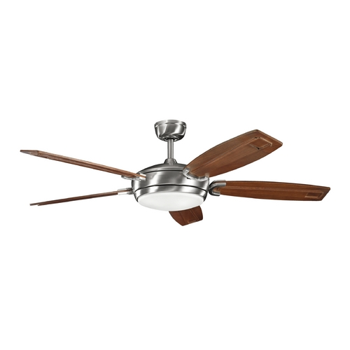 Kichler Lighting Kichler Fan with Light in Brushed Stainless Steel Finish 300156BSS
