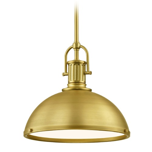 Design Classics Lighting Industrial Metal Pendant Light Brass 13.38-Inch Wide 1764-12 SH1776-12 R1776-12