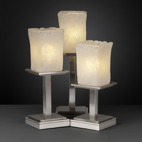 Justice Design Group Justice Design Group Veneto Luce Collection Table Lamp GLA-8697-26-WHTW-NCKL