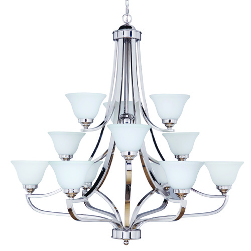 Jeremiah Lighting Jeremiah Portia Polished Nickel Chandelier 9845PLN12