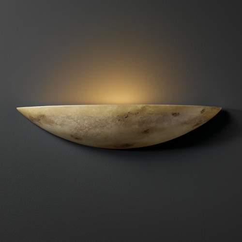 Justice Design Group Sconce Wall Light in Greco Travertine Finish CER-4210-TRAG