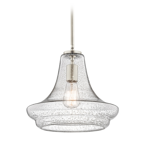 Kichler Lighting Kichler Lighting Everly Brushed Nickel Pendant Light with Urn Shade 42328NICS