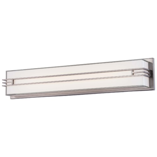 Minka Lighting Minka Level Bath Brushed Nickel LED Bathroom Light 2943-84-L