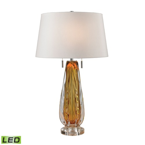 Dimond Lighting Dimond Lighting Amber LED Table Lamp with Empire Shade D2669W-LED