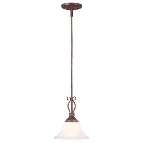 Savoy House Savoy House Sunset Bronze Mini-Pendant Light with Bell Shade KP-SS-130-1-91