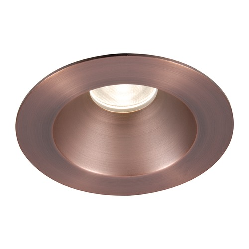 WAC Lighting WAC Lighting Round Copper Bronze 3.5-Inch LED Recessed Trim 2700K 1100LM 30 Degree HR3LEDT218PN827CB