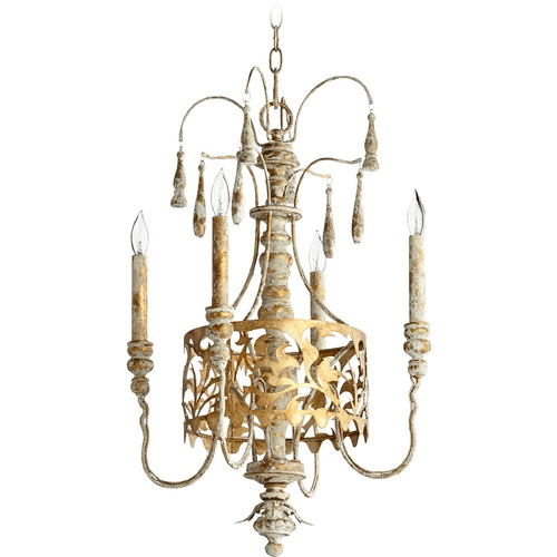 Quorum Lighting Quorum Lighting Leduc Florentine Gold Mini-Chandelier 6355-4-61