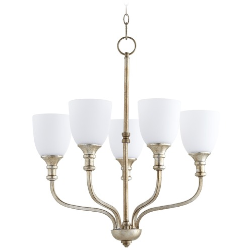 Quorum Lighting Quorum Lighting Richmond Aged Silver Leaf Chandelier 6811-5-60