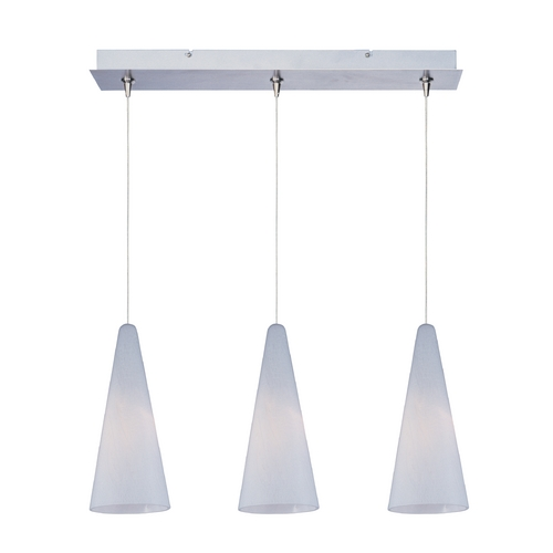 ET2 Lighting Modern Low Voltage Multi-Light Pendant Light with White Glass and 3-Lights E94828-101SN