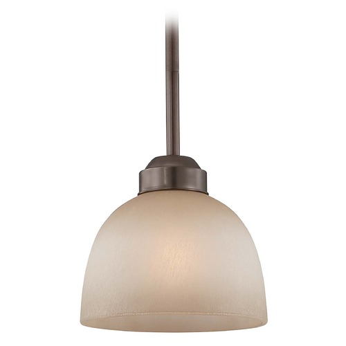 Minka Lighting Mini-Pendant Light - French Scavo Glass 1421-281