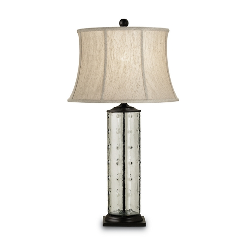 Currey and Company Lighting Modern Table Lamp in Bronze/recycled Glass Finish 6167