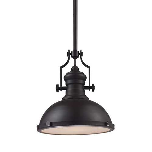 Elk Lighting 13-Inch Oiled Bronze Vintage Pendant Light 66134-1