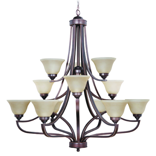 Jeremiah Lighting Jeremiah Portia Metropolitan Bronze Chandelier 9845MB12