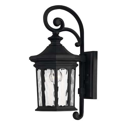 Hinkley Lighting Outdoor Wall Light with Clear Glass in Museum Black Finish 1600MB