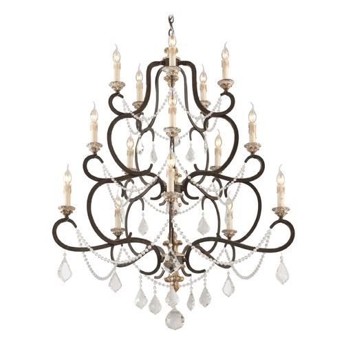 Troy Lighting Crystal Chandelier in Parisian Bronze Finish F3517