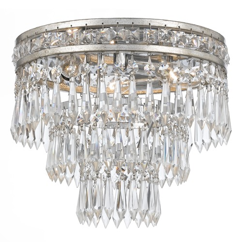Crystorama Lighting Crystorama Lighting Mercer Olde Silver Flushmount Light 5260-OS-CL-MWP