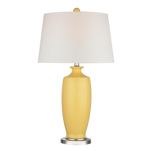 Dimond Lighting Table Lamp with White Shades in Sunshine Yellow Finish D2505