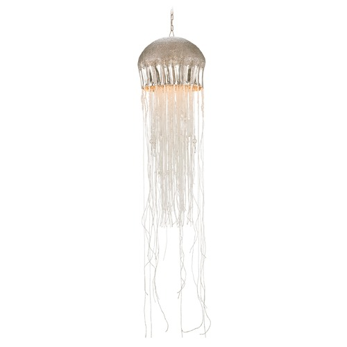 Currey and Company Lighting Currey and Company Lighting Medusa Nickel / Clear Pendant Light 9558