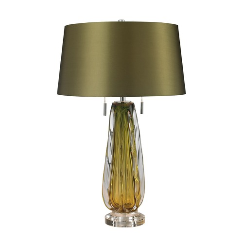 Dimond Lighting Dimond Lighting Green Table Lamp with Empire Shade D2670