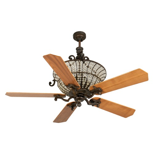 Craftmade Lighting Craftmade Lighting Cortana Peruvian Bronze Ceiling Fan with Light K10875