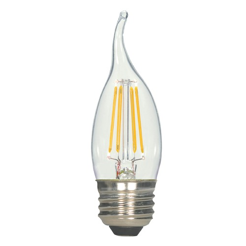 Satco Lighting 4.5W LED Flame Medium Base Bulb 2700K 450LM S9573