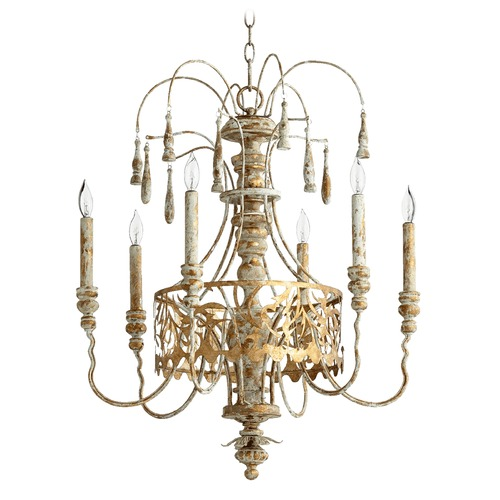 Quorum Lighting Quorum Lighting Leduc Florentine Gold Chandelier 6355-6-61