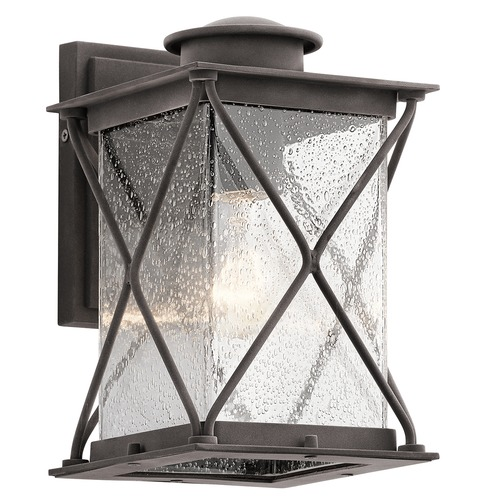 Kichler Lighting Kichler Lighting Argyle Weathered Zinc LED Outdoor Wall Light 49743WZCL16