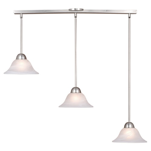 Vaxcel Lighting Da Vinci Brushed Nickel Multi-Light Pendant with Bowl / Dome Shade by Vaxcel Lighting PD5027BN