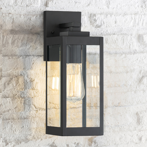 Quoizel Lighting Arts and Crafts Industrial Outdoor Wall Light Black Westover by Quoizel Lighting WVR8405EK