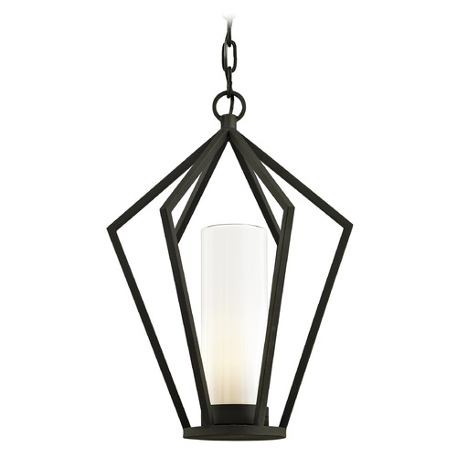 Troy Lighting Troy Lighting Whitley Heights Textured Black Outdoor Hanging Light F6347
