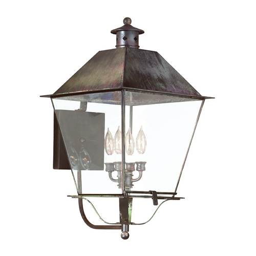 Troy Lighting Outdoor Wall Light with Clear Glass in Charred Iron Finish B9140CI