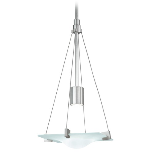 Sonneman Lighting Sonneman Handkerchief Satin Silver Pendant Light with Square Shade 3401.04