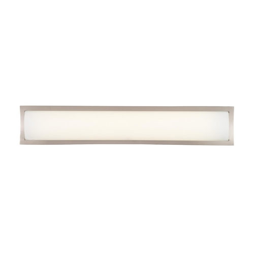 Philips Lighting Modern Bathroom Light with White Glass in Satin Nickel Finish F353536U