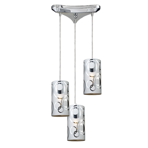 Elk Lighting Modern Multi-Light Pendant Light 3-Lights 31076/3
