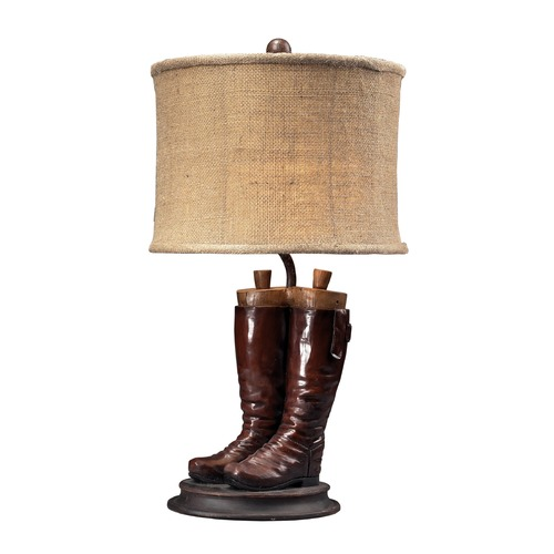 Dimond Lighting Dimond Polished Tan Table Lamp with Drum Shade 93-10012