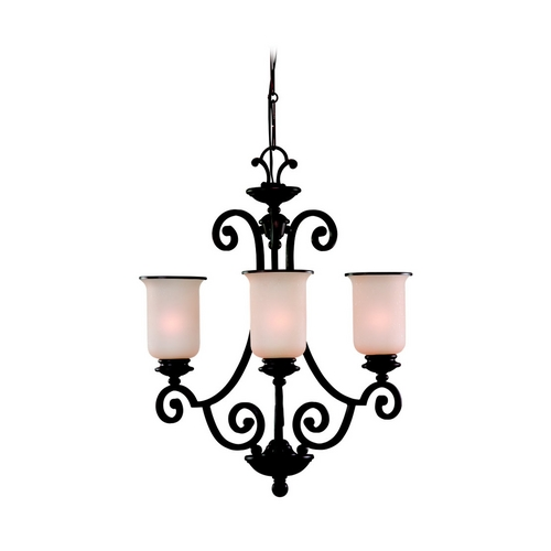Sea Gull Lighting Chandelier with Champagne Seeded Glass in Misted Bronze Finish 31145-814