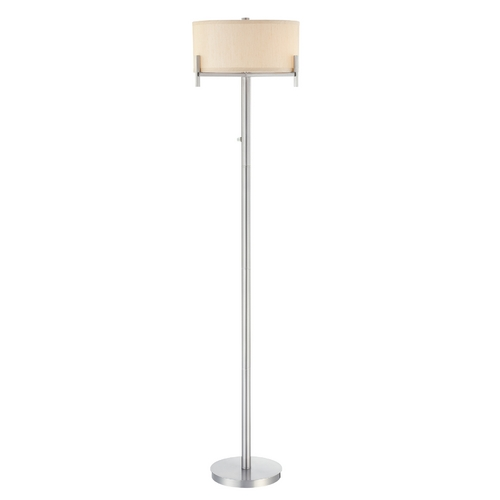 Dolan Designs Lighting Contemporary Floor Lamp with Beige Drum Shade 2949-09