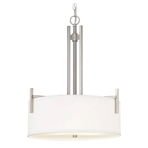 Dolan Designs Lighting Dolan Designs Tecido Satin Nickel Pendant Light 2974-09