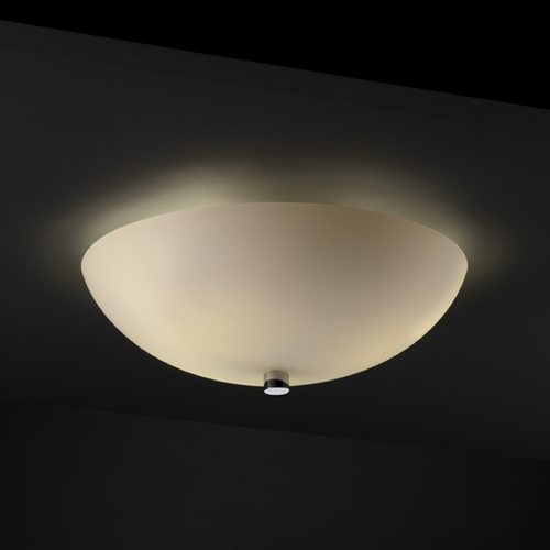 Justice Design Group Justice Design Group Fusion Collection Semi-Flushmount Light FSN-9671-35-OPAL-CROM