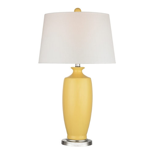 Dimond Lighting LED Table Lamp with White Shades in Sunshine Yellow Finish D2505-LED