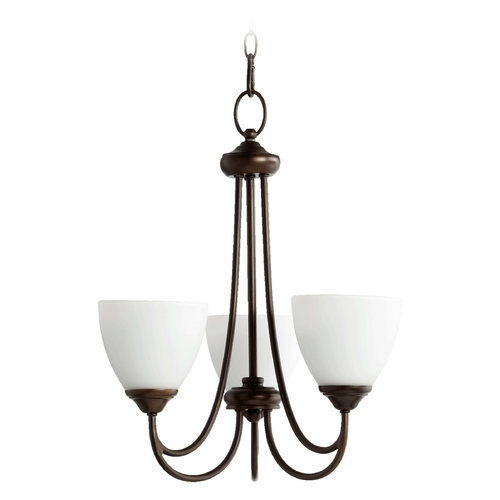 Quorum Lighting Quorum Lighting Brooks Oiled Bronze Mini-Chandelier 6050-3-86
