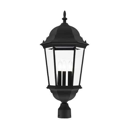 Livex Lighting Livex Lighting Hamilton Black Post Light 7568-04