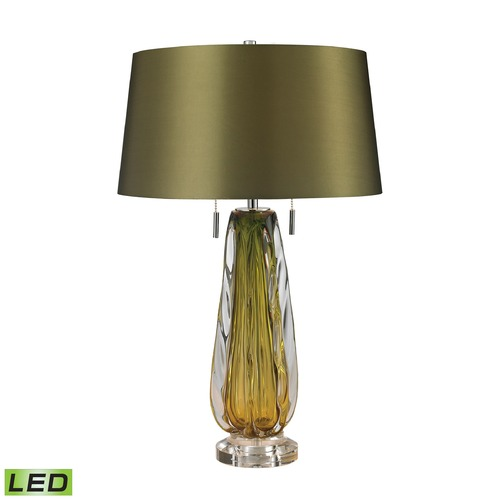 Dimond Lighting Dimond Lighting Green LED Table Lamp with Empire Shade D2670-LED
