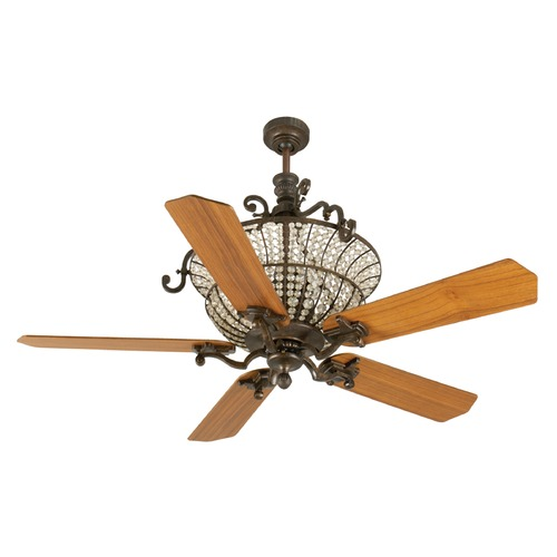Craftmade Lighting Craftmade Lighting Cortana Peruvian Bronze Ceiling Fan with Light K10876