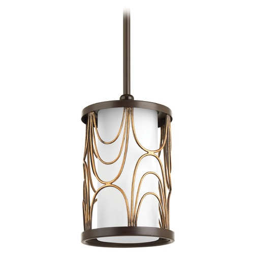 Progress Lighting Progress Lighting Cirrine Antique Bronze Mini-Pendant Light with Cylindrical Shade P5082-20