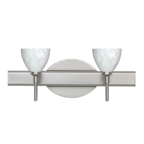 Besa Lighting Besa Lighting Divi Satin Nickel LED Bathroom Light 2SW-185819-LED-SN