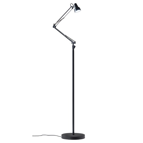Adesso Home Lighting Adesso Home Quest Black LED Swing Arm Lamp with Conical Shade 3781-01