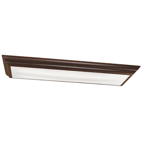 Kichler Lighting Kichler Modern Flushmount Light with White in Olde Bronze Finish 10847OZ