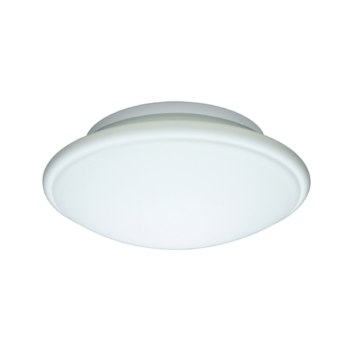Besa Lighting Flushmount Light with White Glass 943207C