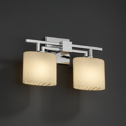 Justice Design Group Justice Design Group Fusion Collection Bathroom Light FSN-8702-30-WEVE-CROM